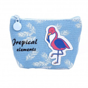 AAA226 Cute Cartoon Flamingo Small Wallet Pouch Coin Purse Bag Gift