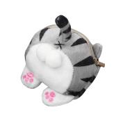Wallet, SHOBDW Women Girls Boys Cute Cat Butt Tail Plush Coin Purse Change Purse Kids Zipper Gifts Bag