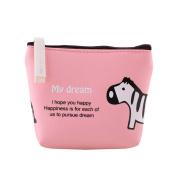 AAA226 Cute Animal Pattern Canvas Zipper Wallet Coin Pocket Card Holder Bag Purse