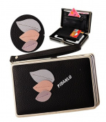 Phone Wallet Case for Womens,Sunroyal Multi-purpose Long Style PU Leather Clutch Handbag Purse Cellphone Case for Mother/Girlfriend/Birthday's Gift/Card Bag/Pouch/Convenient/Cash Slots