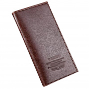 Men's Soft Leather Long Purse Mens Zipper Billfold Wallet ID Credit Card Case