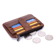 Gendi Genuine Leather Credit Card Holder Wallet - 6 Card Slots and 1 Coin Pockets, Slim Design by mSure