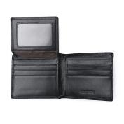 VRLEGEND Wallets Men Black Genuine Leather RFID Blocking Billfold Wallet Card Case Holder
