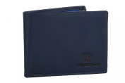 Wallet man YY COVERI blue with coin purse and lateral flap