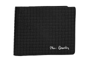 Wallet man PIERRE CARDIN black in leather with flap and coin purse