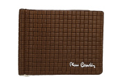 Mini wallet man PIERRE CARDIN brown with underwire banknotes holder