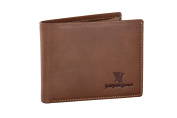 Wallet man YY COVERI brown with coin purse and lateral flap
