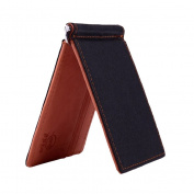 Pu ran Men Slim Faux Leather Front Pocket Minimalist Wallet Bi-fold Cash Money Clip
