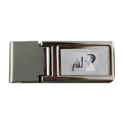 Metal money clip with Microphone, Boy, Studio, Screaming