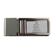 Metal money clip with Handle it KENNETH Keep calm