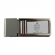 Metal money clip with Handle it JAX Keep calm