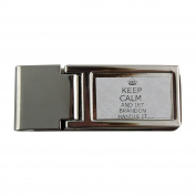 Metal money clip with Handle it BRANDON Keep calm