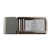 Metal money clip with Handle it ARMANDO Keep calm