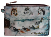 Siberian Husky Breed of Dog Zipper Lined Purse Pouch Perfect Gift