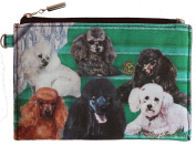 Poodle Group Breed of Dog Zipper Lined Purse Pouch Perfect Gift