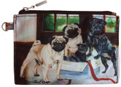 Pug Fawn and Black Breed of Dog Zipper Lined Purse Pouch Perfect Gift