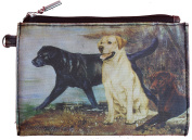 Labrador Black Yellow and Chocolate Breed of Dog Zipper Lined Purse Pouch Perfect Gift