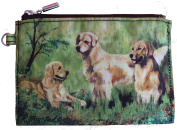 Golden Retriever Breed of Dog Zipper Lined Purse Pouch Perfect Gift