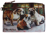 Bulldog Group Breed of Dog Zipper Lined Purse Pouch Perfect Gift