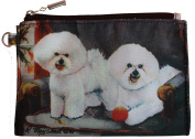 Bichon Frise Breed of Dog Zipper Lined Purse Pouch Perfect Gift