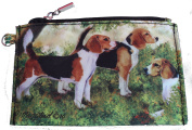 Beagle Group Breed of Dog Zipper Lined Purse Pouch Perfect Gift