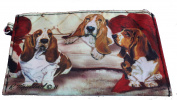 Basset Hound Breed of Dog Zipper Lined Purse Pouch Perfect Gift