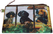 Dachshund Group Breed of Dog Zipper Lined Purse Pouch Perfect Gift