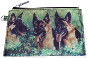 German Shepherd Alsation Breed of Dog Zipper Lined Purse Pouch Perfect Gift