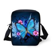 HUGSIDEA Butterfly Printed Small Crossbody Bags Shoulder Handbag Cell Phone Purse wallet Bag for Women Girl