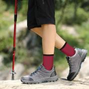 Men's Hiking Walking Outdoor Sport Socks - YUEDGE 5 Packs Men Multi Performance Wicking Cushion Crew Socks Year Round