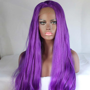 MZP Women's Synthetic Wigs Long Straight Hair Purple Colour Wig New Style Cospaly Wig , purple