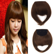 FLORATA Womens 20cm Straight Bang Clip In Two Side Long Synthetic Fringe Hairpiece Fashion Choice 8 Colours