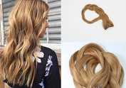 HUAYI Hair clip In Hair Extensions #10 Medium Golden Brown 46cm respectively 70g Silky Straight 100% Real Remy Human Hair Extensions Balayage Hair Ultra Thick