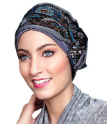 NJ Creation lounia Turban Blue Grey/Blue