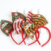 IGEMY Christmas Bow Headband Tiara Party Decorations Snow Head Hoop Hair bands