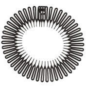 Black Plastic Zig Zag Headband Wheel Toothed Hair Accessory