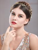 Handcess Crystal Wedding Headband Hair Vine Crown and Tiara Rhinestones Hair Jewellery
