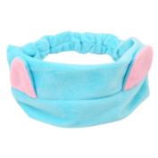 VWH Womens Girls Cat Ears Headband Beauty Makeup Headband Shower Elastic Hairband