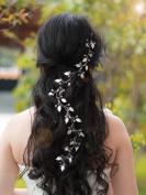 Handmadejewelrylady Wedding Bridal Crystal Rhinestones Headband Hair Vine Headpiece Women Evening Party Hair Accessories