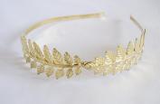 Golden Leaves Metal Headband. . 72 Hours