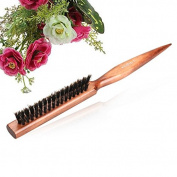 ROKOO Bristle Hair Comb Brush Fluffy Wood Handle Hairdressing Barber Tool