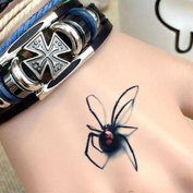 DFLY 10 PCS spider tattoo body sticker male female spider 3D pattem Halloween stick Spider Tattoo