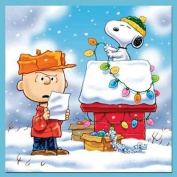 FUNNY CHARLIE BROWN AND SNOOPY CHRISTMAS - COASTER