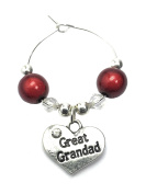 Great Grandad Wine Glass Charm with Gift Card Handmade by Libby's Market Place - From UK Seller