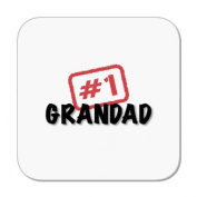 Number 1 Grandad Coaster (#1 Stamp) by MugBug