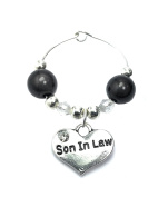 Son in Law Wine Glass Charm with Gift Card Handmade by Libby's Market Place - From UK Seller
