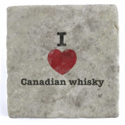 I Love Canadian whisky - Marble Tile Drink Coaster