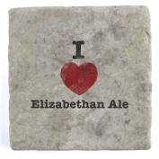I Love Elizabethan Ale - Marble Tile Drink Coaster
