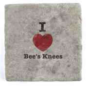 I Love Bee's Knees - Marble Tile Drink Coaster