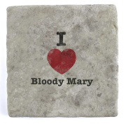 I Love Bloody Mary - Marble Tile Drink Coaster